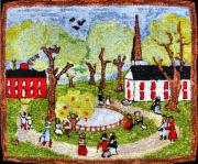 Folk Tapestries - Textiles - Old Town by Don Thomas  Designs