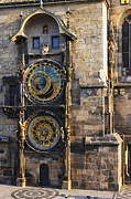 Large Clock Posters - Old Town Hall Clock Poster by Jeremy Woodhouse