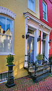 Alexandria Virginia Prints - Old Town Homes I Print by Steven Ainsworth