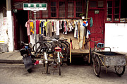 Old Shanghai China Prints - Old Town in Shanghai Print by Rafael Macia and Photo Researchers