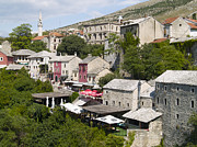 Mostar Framed Prints - old town Mostar Framed Print by Radoslav Rundic