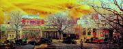 Ft. Collins Digital Art Prints - Old Town Panorama Print by Jeff Gibford
