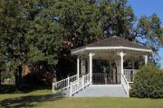Old Town Digital Art Acrylic Prints - Old Town Salado Texas Gazebo Acrylic Print by Linda Phelps
