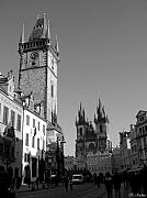 Prague Photo Posters - Old Town Square Poster by Keiko Richter