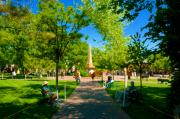 Town Square Prints - Old Town Square Santa Fe Print by David Lee Thompson