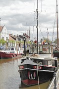 Trawler Photos - Old Town with Harbor by Stefan Kuhn