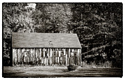 Old And New Prints - Old Towne Barn Print by John Rizzuto