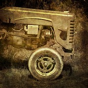 Machinery Photo Posters - Old tractor Poster by Bernard Jaubert