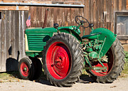 Sweet Corn Farm Prints - Old Tractor Older Barn Print by Tim  Fitzwater