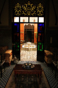 Moroccan Photos - Old Traditional Riad In Fez by ArtPhoto-Ralph A  Ledergerber-Photography