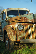Rusted Cars Posters - Old Tri-Way Truck Poster by Randy Harris