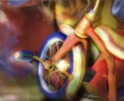 Kid Digital Art - Old Tricycle by Bob Salo