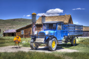 Hdr Photo Prints - Old Truck and Gas Pumps Print by Joe  Palermo