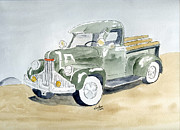 Truck Drawings Framed Prints - Old Truck Framed Print by Eva Ason