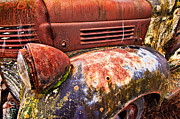 Truck Photo Posters - Old Truck Fender Poster by Tim Fleming