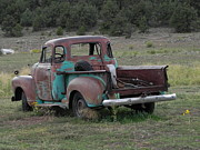 Adrienne Petterson Art - Old Truck in Colorado by Adrienne Petterson