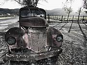 Low Country Scene Posters - Old Truck in Napa Valley Poster by George Oze