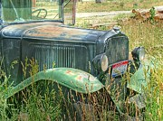 Chevy Pickup Prints - Old Truck in the Field Print by Ken Smith