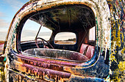 Truck Photo Posters - Old Truck Side Window Poster by Tim Fleming