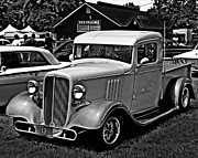 White Truck Framed Prints - Old Trucking Framed Print by Perry Webster