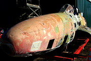 Fuselage Framed Prints - Old US Fighter Jet Fuselage . 7D11252 Framed Print by Wingsdomain Art and Photography