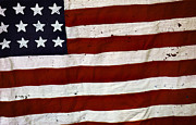Abstract Stars Metal Prints - Old USA flag Metal Print by Carlos Caetano