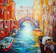 Waterscape Painting Metal Prints - Old Venice Metal Print by Ehlers