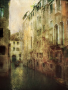 Gondola Digital Art Prints - Old Venice Print by Julie Palencia