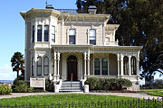 Vintage House Prints - Old Victorian Camron-Stanford House . Oakland California . 7D13440 Print by Wingsdomain Art and Photography