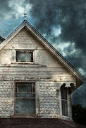 Haunted House Art - Old Victorian House Detail by Jill Battaglia