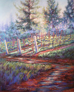 Grape Vines Originals - Old Vines and Fresh Rain by Denise Horne-Kaplan