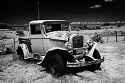 Uruguay Framed Prints - old vintage chevrolet historic pickup in a field in Colonia Del Sacramento Uruguay South America Framed Print by Joe Fox