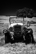 Uruguay Framed Prints - old vintage historic car in a field in Colonia Del Sacramento Uruguay South America Framed Print by Joe Fox