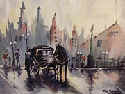Khatuna Buzzell Metal Prints - Old Vintage London Metal Print by Khatuna Buzzell