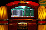 Jukebox Prints - Old Vintage Wurlitzer Jukebox . 7D13100 Print by Wingsdomain Art and Photography