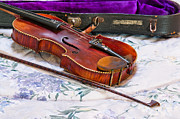 Violin Case Framed Prints - Old Violin with Case Framed Print by Denise Lett