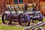 Old Wooden Wagon Prints - Old wagon Bodie ghost town Print by Garry Gay