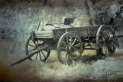 Horse And Cart Art - Old Wagon by Christine Hauber
