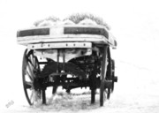 Black And White - Old Wagon Monochrome by Ben and Raisa Gertsberg