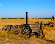 Western Western Art Posters - Old wagon Poster by Perry Webster