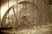 Wagon Wheels Photos - Old Wagon Wheels by Brooke Roby