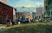 Old Barns Painting Prints - Old Warwick Print by Tom Hedderich