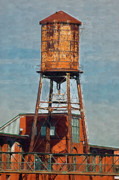 Old Relics Painting Prints - Old Water Tower Print by Clarence Alford