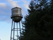 Digital Pyrography Posters - Old Water Tower Poster by Laurie Kidd