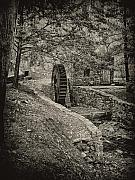 Philadelphia Digital Art Prints - Old Water Wheel Print by Bill Cannon