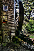 Grist Mill Digital Art - Old Water Wheel by Michael  Ayers
