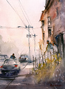 Streetscape Painting Originals - Old Wautoma Hotel by Ryan Radke