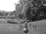 Weathervane Posters - Old Weathervane in Black and White Poster by Sherman Perry