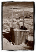 Black Posters - Old Well Bodie Ghost Twon California Poster by Steve Gadomski