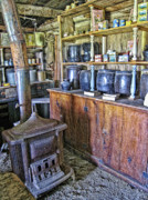 Ghost Town Photo Posters - Old West Chinese Apothecary - Montana Territories Poster by Daniel Hagerman